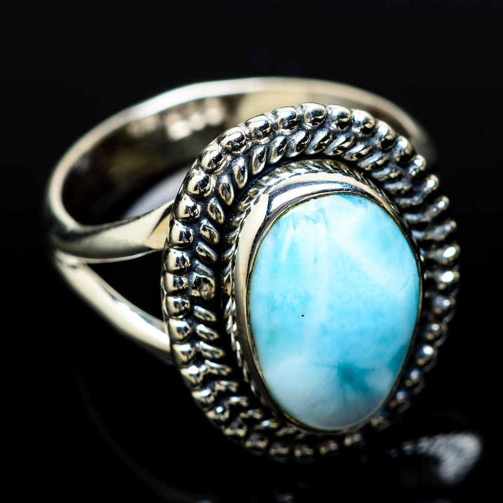Larimar Rings handcrafted by Ana Silver Co - RING14287