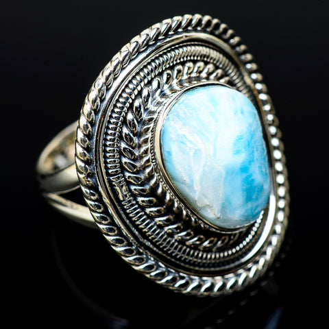 Larimar Rings handcrafted by Ana Silver Co - RING14342