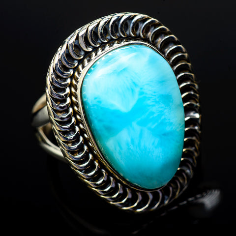 Larimar Rings handcrafted by Ana Silver Co - RING14524