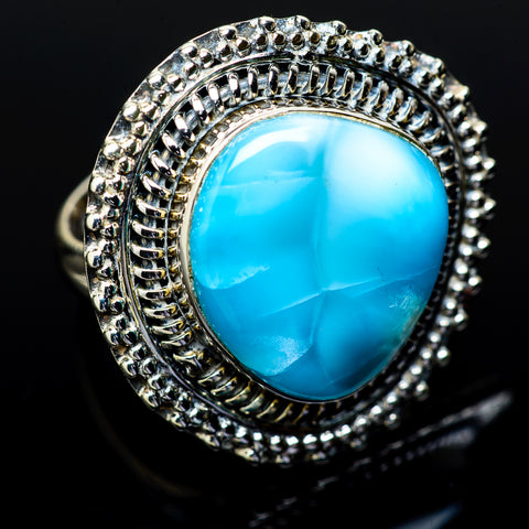 Larimar Rings handcrafted by Ana Silver Co - RING14742