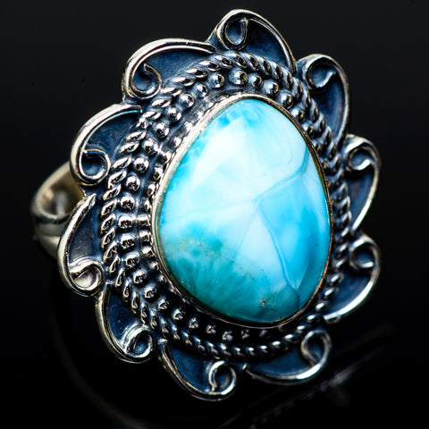 Larimar Rings handcrafted by Ana Silver Co - RING14745