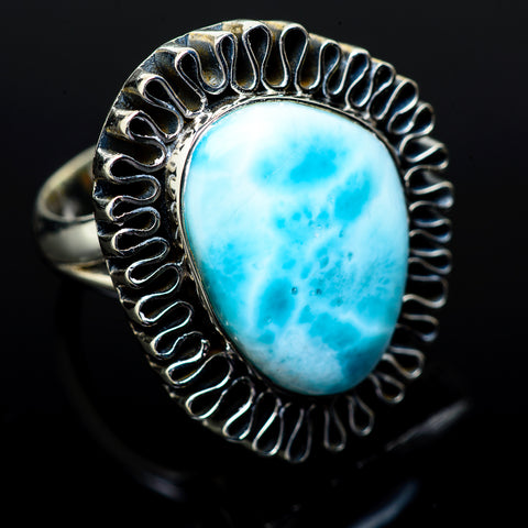 Larimar Rings handcrafted by Ana Silver Co - RING14790