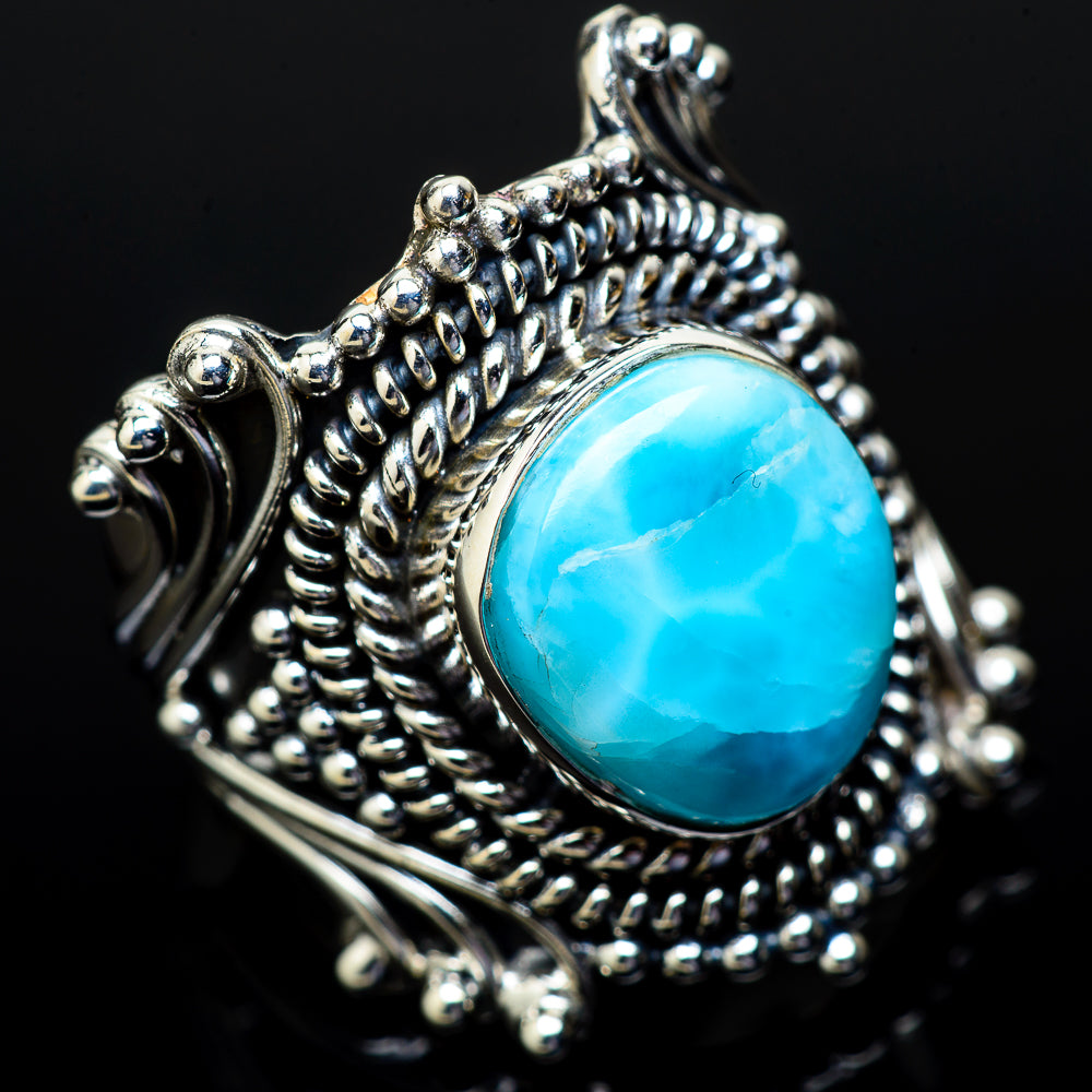 Larimar Rings handcrafted by Ana Silver Co - RING14818