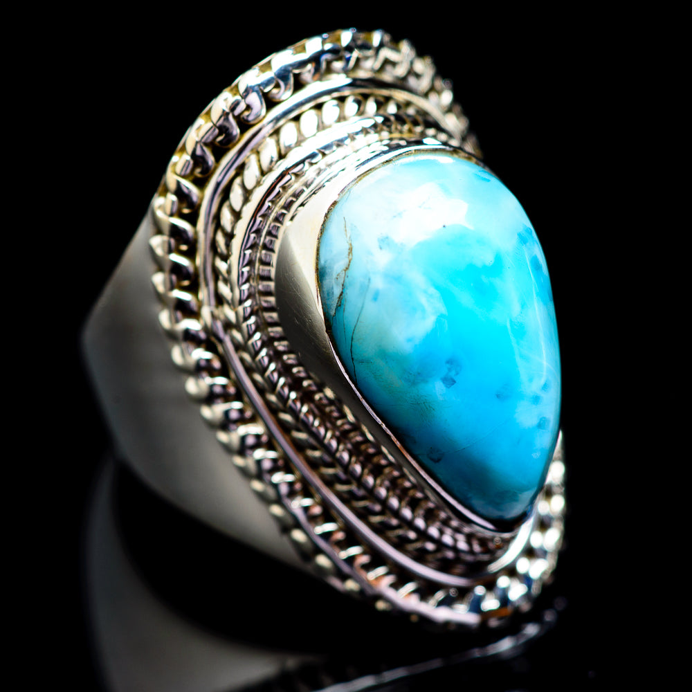 Larimar Rings handcrafted by Ana Silver Co - RING1489