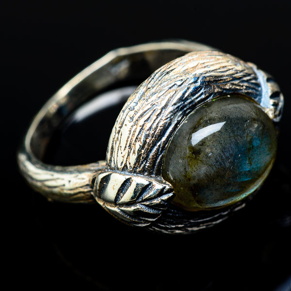 Labradorite Rings handcrafted by Ana Silver Co - RING16392