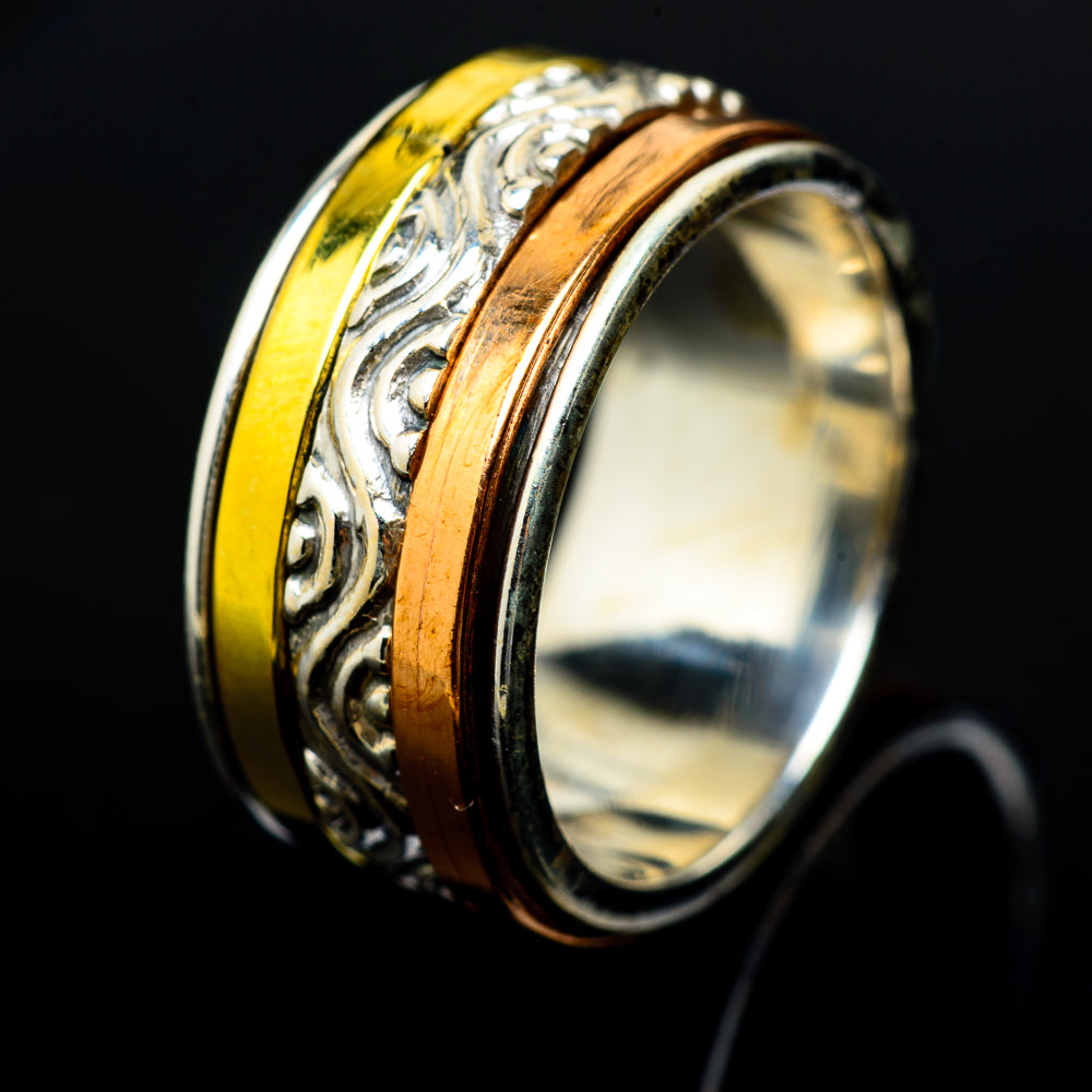 Meditation Spinner Rings handcrafted by Ana Silver Co - RING16398