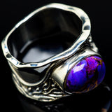 Purple Copper Composite Turquoise Rings handcrafted by Ana Silver Co - RING16423