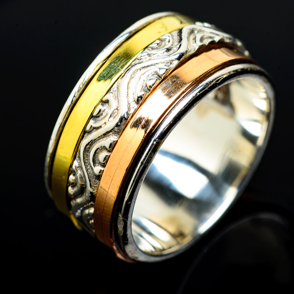 Meditation Spinner Rings handcrafted by Ana Silver Co - RING16429