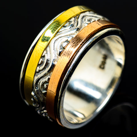 Meditation Spinner Rings handcrafted by Ana Silver Co - RING17419