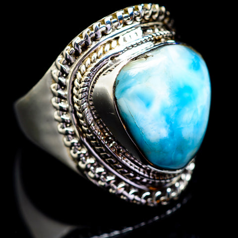 Larimar Rings handcrafted by Ana Silver Co - RING1754