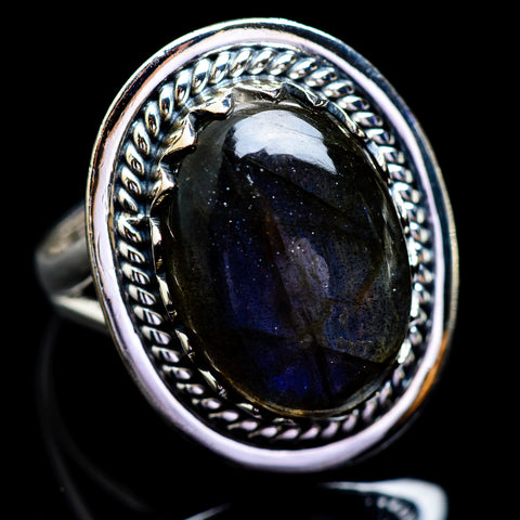 Labradorite Rings handcrafted by Ana Silver Co - RING1755
