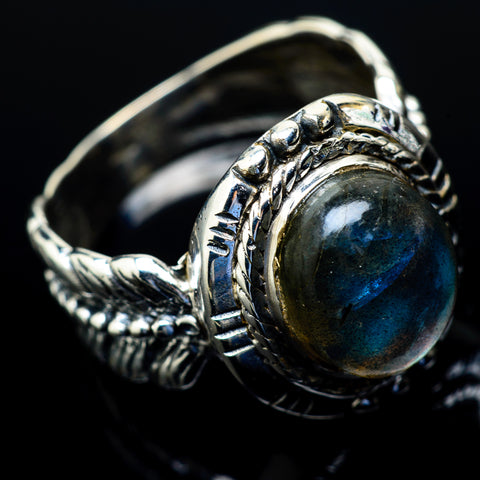 Labradorite Rings handcrafted by Ana Silver Co - RING18828