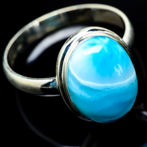 Larimar Rings handcrafted by Ana Silver Co - RING19610