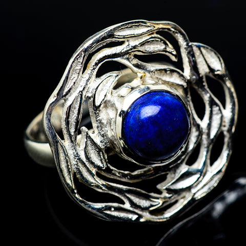 Lapis Lazuli Rings handcrafted by Ana Silver Co - RING19611