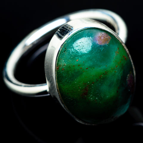 Ruby Fuchsite Rings handcrafted by Ana Silver Co - RING19917