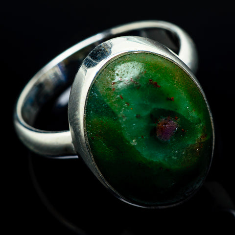Ruby Fuchsite Rings handcrafted by Ana Silver Co - RING19974