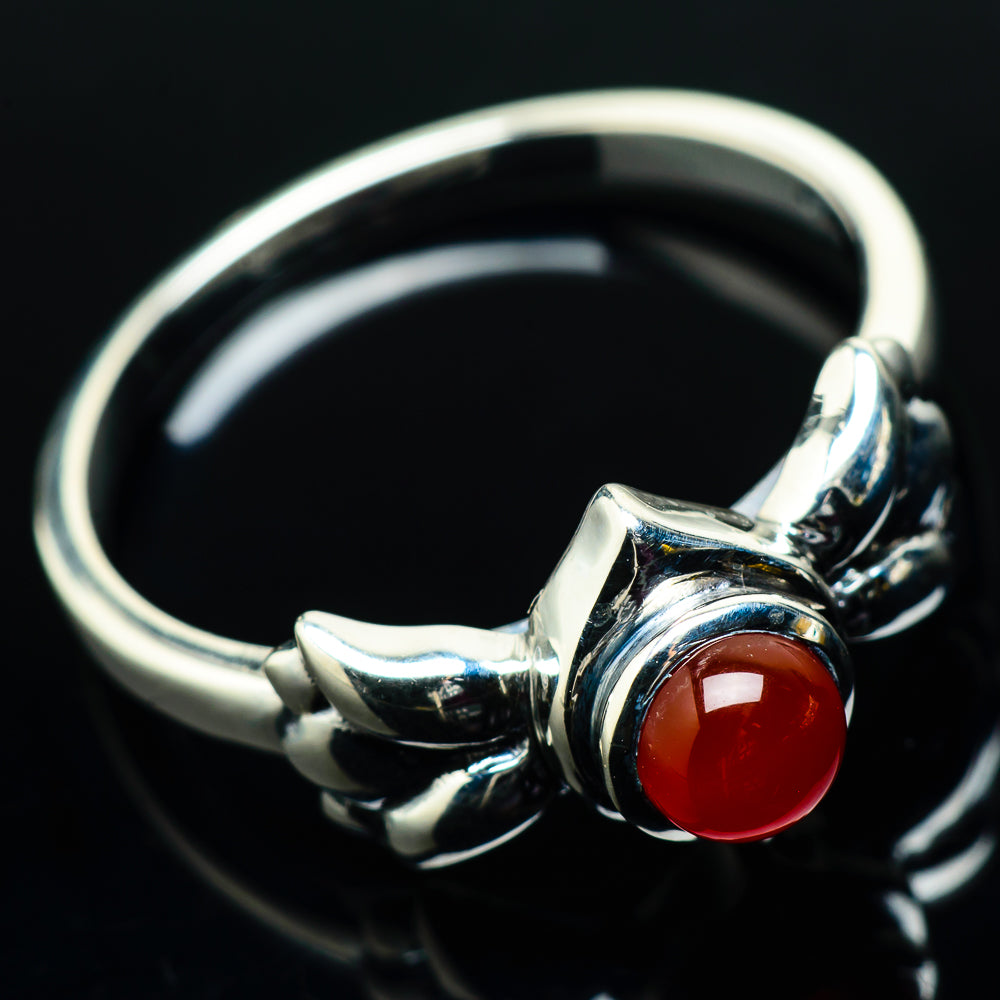 Red Onyx Rings handcrafted by Ana Silver Co - RING20040