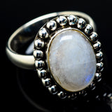 Rainbow Moonstone Rings handcrafted by Ana Silver Co - RING20139