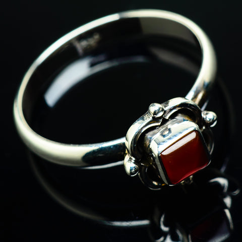 Red Onyx Rings handcrafted by Ana Silver Co - RING20173