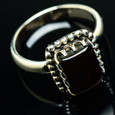Red Onyx Rings handcrafted by Ana Silver Co - RING20190