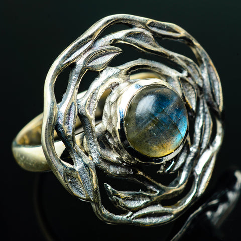 Labradorite Rings handcrafted by Ana Silver Co - RING20323