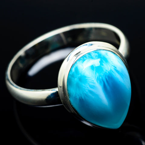 Larimar Rings handcrafted by Ana Silver Co - RING20441