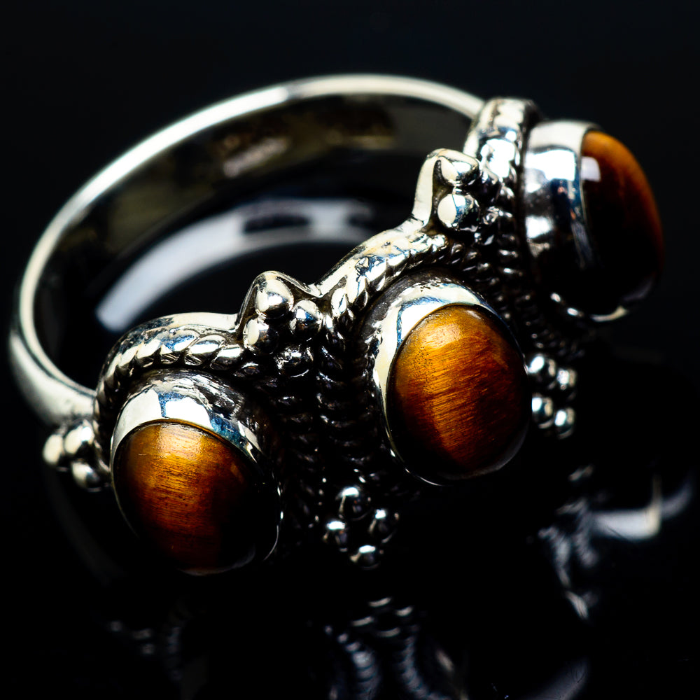 Tiger Eye Rings handcrafted by Ana Silver Co - RING20446