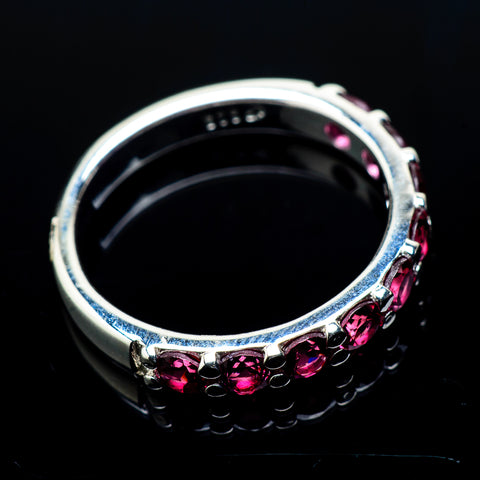 Pink Tourmaline Rings handcrafted by Ana Silver Co - RING20473