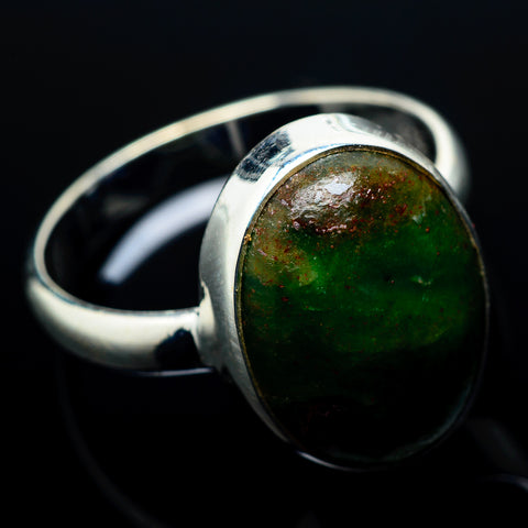 Ruby Fuchsite Rings handcrafted by Ana Silver Co - RING20512