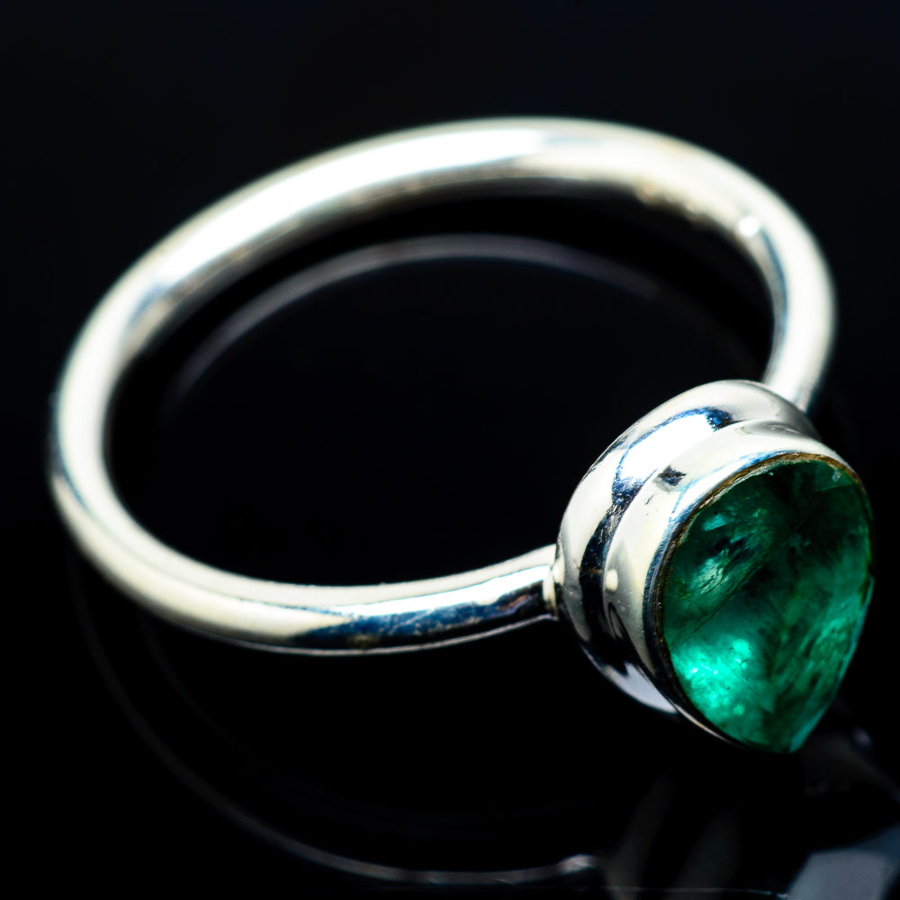 Zambian Emerald Rings handcrafted by Ana Silver Co - RING20514
