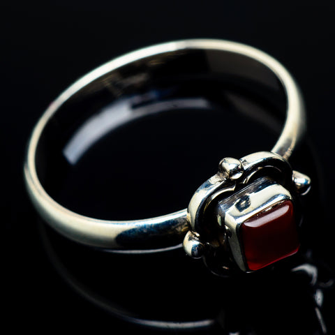 Red Onyx Rings handcrafted by Ana Silver Co - RING20583