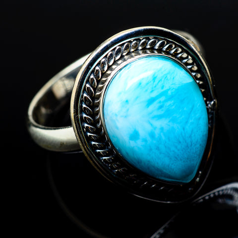 Larimar Rings handcrafted by Ana Silver Co - RING20781