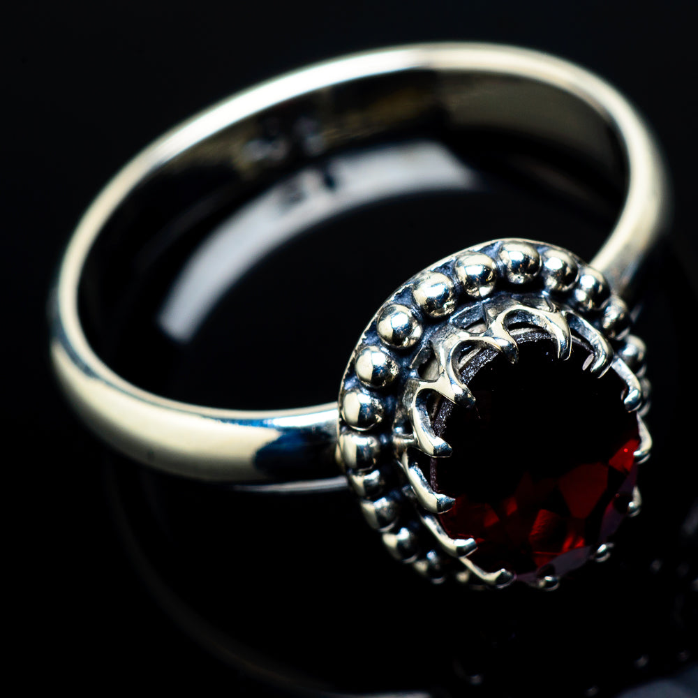 Garnet Rings handcrafted by Ana Silver Co - RING20843