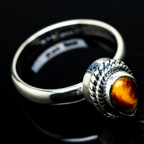 Tiger Eye Rings handcrafted by Ana Silver Co - RING20862