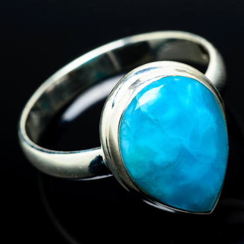 Larimar Rings handcrafted by Ana Silver Co - RING20935