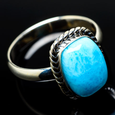 Larimar Rings handcrafted by Ana Silver Co - RING20998