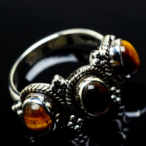 Tiger Eye Rings handcrafted by Ana Silver Co - RING21023