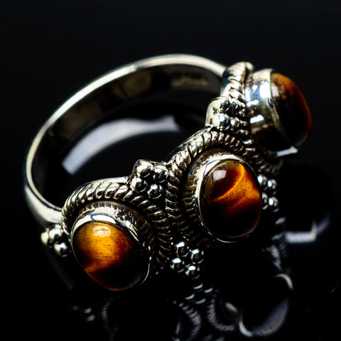 Tiger Eye Rings handcrafted by Ana Silver Co - RING21075
