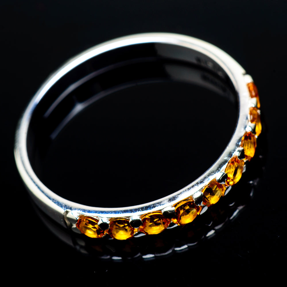 Citrine Rings handcrafted by Ana Silver Co - RING21076
