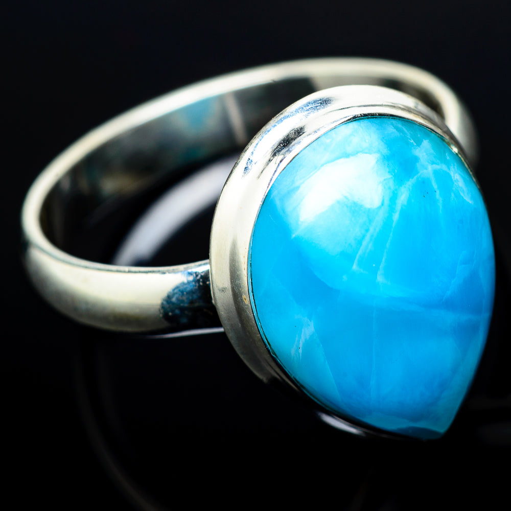 Larimar Rings handcrafted by Ana Silver Co - RING21107