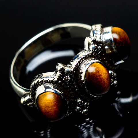 Tiger Eye Rings handcrafted by Ana Silver Co - RING21112