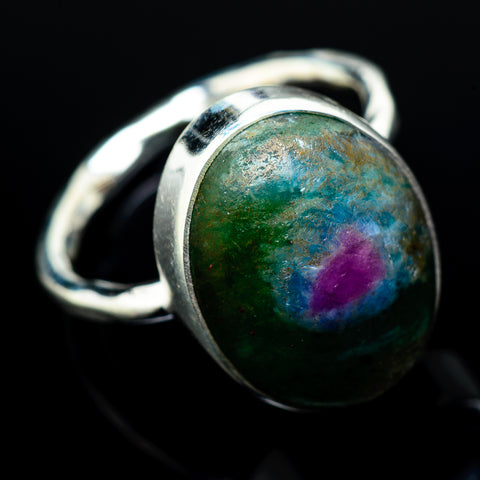 Ruby Fuchsite Rings handcrafted by Ana Silver Co - RING21211