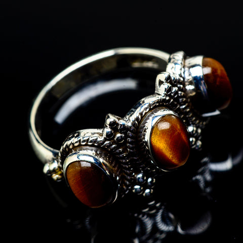 Tiger Eye Rings handcrafted by Ana Silver Co - RING21214