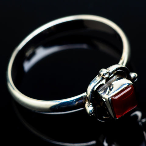 Red Onyx Rings handcrafted by Ana Silver Co - RING21265