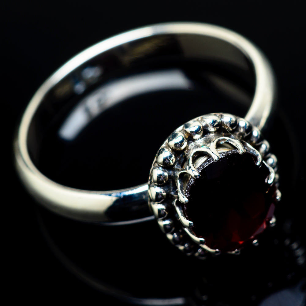 Garnet Rings handcrafted by Ana Silver Co - RING21318