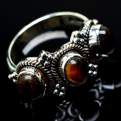 Tiger Eye Rings handcrafted by Ana Silver Co - RING21377