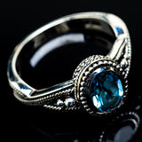 Blue Topaz Rings handcrafted by Ana Silver Co - RING21407