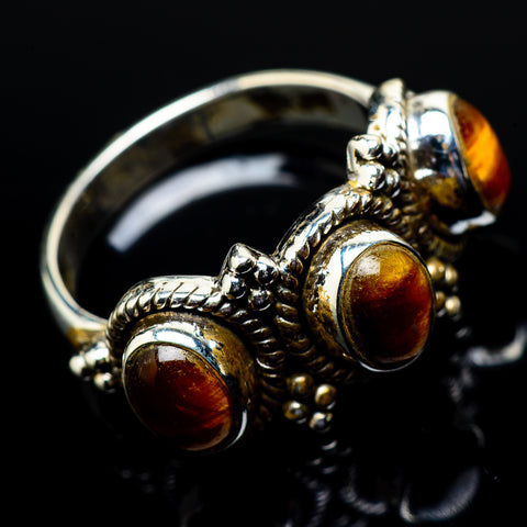 Tiger Eye Rings handcrafted by Ana Silver Co - RING21431