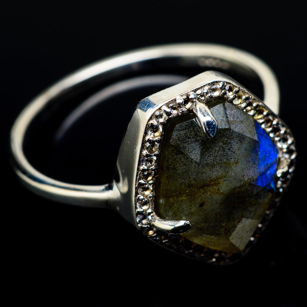 Labradorite Rings handcrafted by Ana Silver Co - RING21440