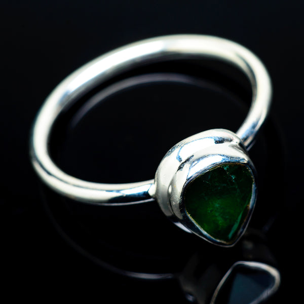 Zambian Emerald Rings handcrafted by Ana Silver Co - RING21461